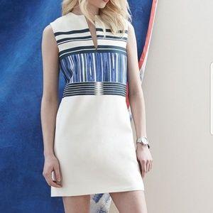 🐝 NWOT🐝 Tory Burch Mixed-Pattern Mikado Dress